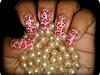 Leopard Heart Print Nail Art