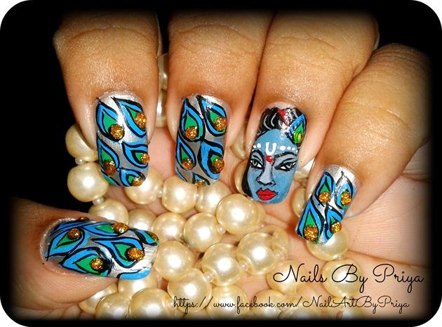 Lord krishna 2 nail art gallery lord krishna 2 prinsesfo Choice Image