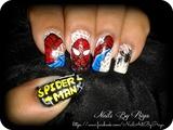 spider -man nail art 1
