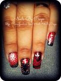 spider-man nail art 2
