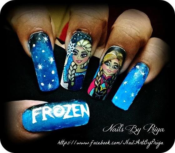 Frozen nail art gallery frozen prinsesfo Images