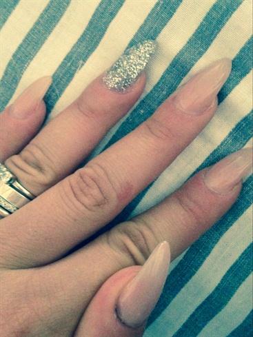 Glitter Silver & Natural Pink