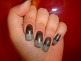 black & glitter