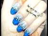 Decorative blue nails