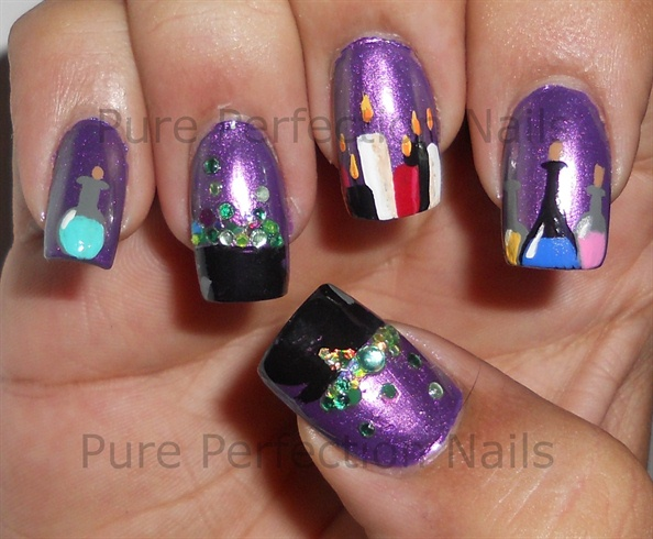 Double Double Halloween Witch Nail Art Nail Art Gallery