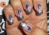 """Black Cat Crossing"" Halloween Nail Art"