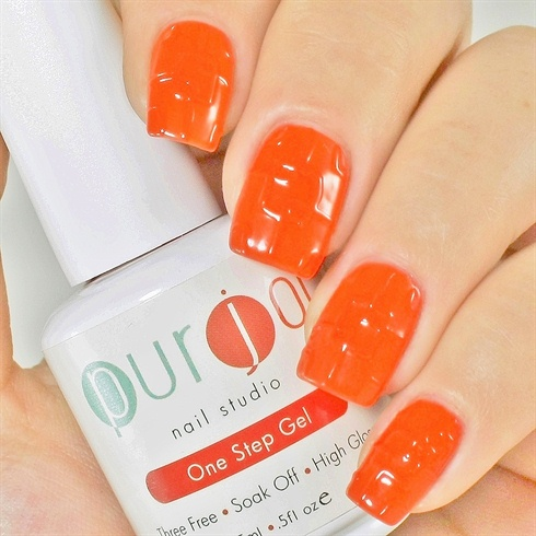Step 5. \n\nFinish the look with a top coat (a thin coat)  and your favorite cuticle oil.