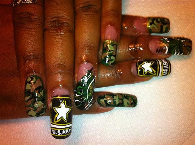 U. S. ARMY - U. S. ARMY - Nail Art Gallery