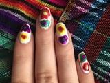 Crazy Rainbow Nails