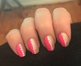 Half And Half Pink Nails