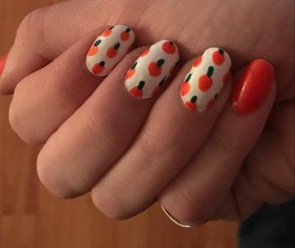 Halloween Pumpkin Nail