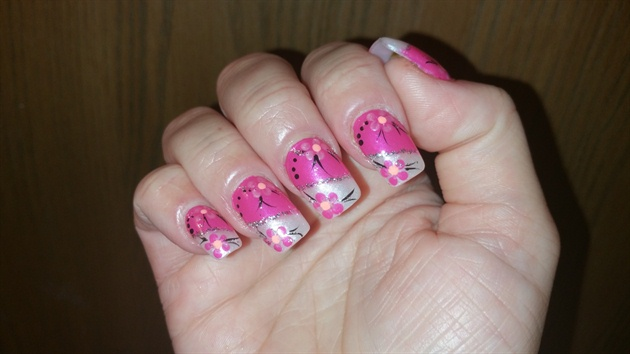 Pink and silver flowers