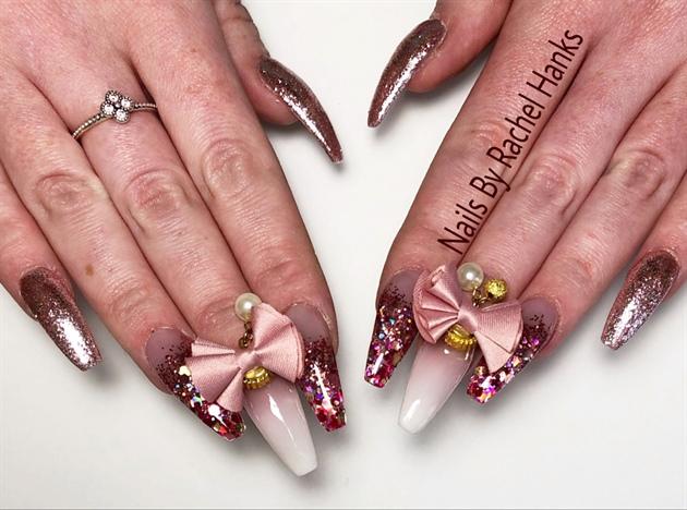 Pink Set Cute Bows ❤️