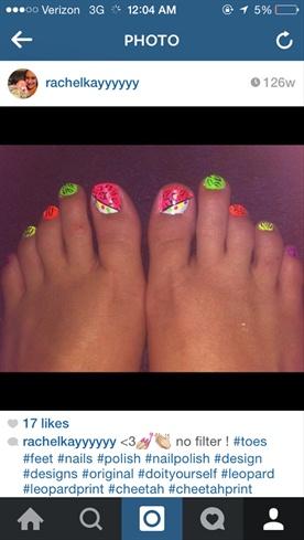Leopard Neon Toes!