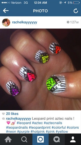 Aztec Leopard Nails!