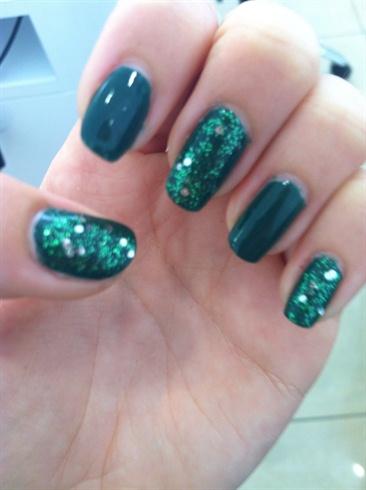Simple Dark Green Glitter