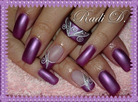 nail art: Purple matte