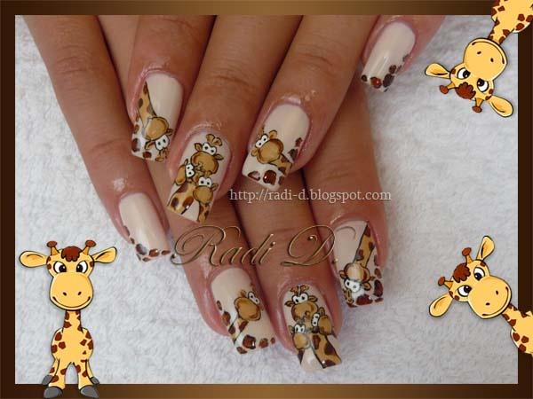 Giraffes Nail Art Gallery
