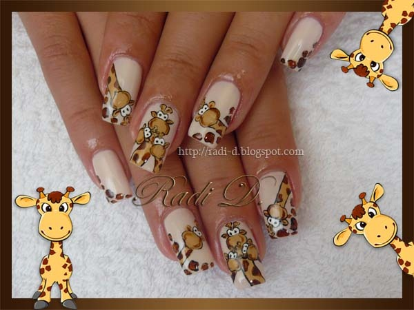 Животные на ногтях с