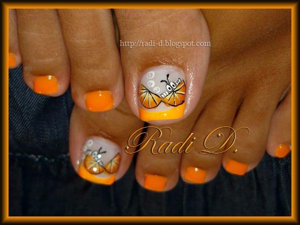 Оrange toes :)