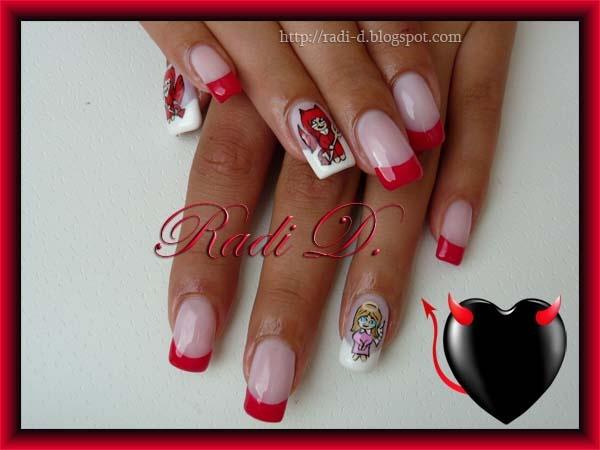 Devil nail art best nail designs 2018 angel vs devil nail art gallery prinsesfo Choice Image