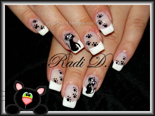 Black cat nail art gallery prinsesfo Images