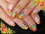Neon Tips & Flowers