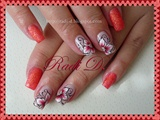Orange Sand & One Stroke Flowers
