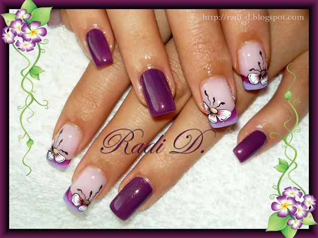 Рисунок с бантиком на ногтях
