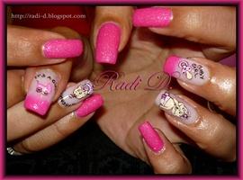 nail art: It`s a Girl!