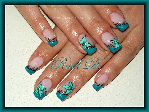 Turquoise Diagonal French