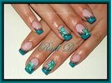 Turquoise Diagonal French