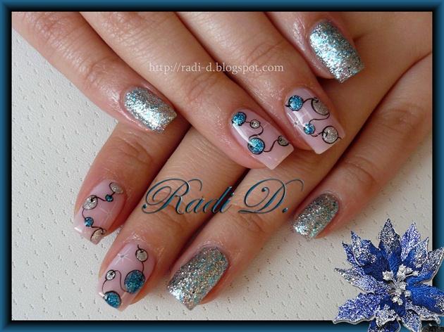Garland in Blue & Silver
