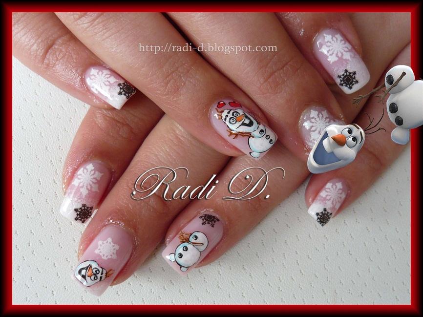 Frozen`s Olaf - Nail Art Gallery