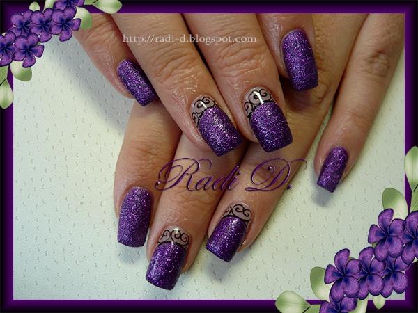 Gorgeous Purple Sand & Swirls