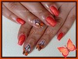 Orange Sand & Butterflies