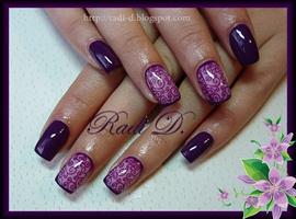 Dark Purple with Swirls