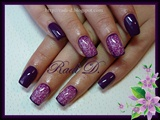 Dark Purple with Swirls