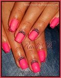 Pink neon & Swirls