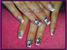 French with Flowers & Swirls