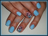 Baby Blue Sand & Flowers