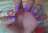 Purple Gradient w/ White Daisies