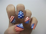 4th July Nail Design