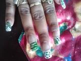 Zebra/Cheetah in green