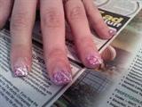 Amanda's pink glitter