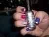 Hannah Montana-ish Valentine nails