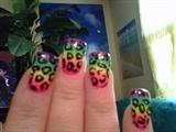 gradient rainbow with leopard 2