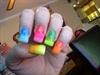 individual nail rainbow gradient