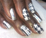 B&W Houndstooth with Minxlusion Minx