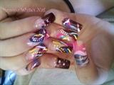 brown n pink